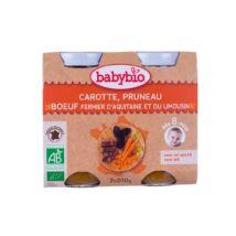 Babybio Bio sárgarépás-aszalt szilvás ínyencség marhahússal 2 x 200 g
