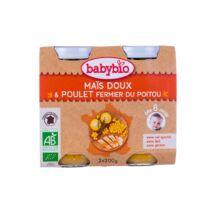 Babybio Bio zöldséges ínyencség csirkével 2 x 200 g