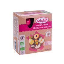 Babybio Bio almás-körtés püré őszibarackkal 4 x 90 g