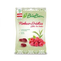 BioBon Organikus töltött keménycukorka - Málna és zöld tea 85 g