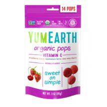 YumEarth Organikus nyalókák C-vitaminnal 14 db/csomag