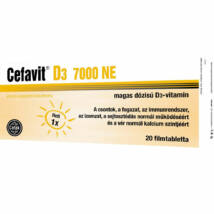 CEFAVIT D3-VITAMIN 7000NE TABLETTA 20DB