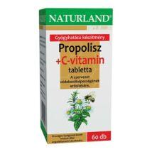 NATURLAND PROPOLISZ+C-VITAMIN TABLETTA 60DB