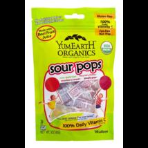 YumEartH Organics Sour pops c-vitaminos savanykás nyalókák 14 db-os