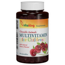 Gyerek rágótabletta  meggyes ízű  -Vitaking (90 db)