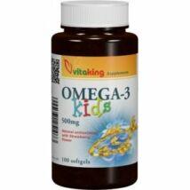 Halolaj-Omega-3- KIDS -Vitaking 500mg (100 db ) gélkapszula