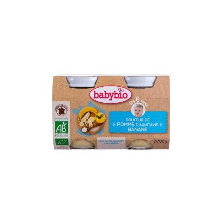 Babybio Bio tejszínes almás-banános püré 2 * 130 g