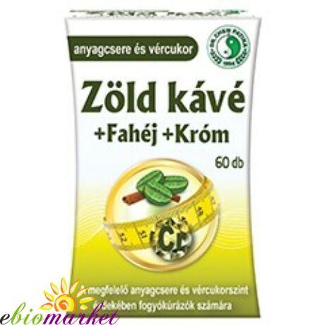 DR.CHEN ZÖLD KÁVÉ + FAHÉJ + KRÓM KAPSZULA 60DB