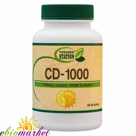VITAMIN STATION C ÉS D-1000 VITAMIN 100DB