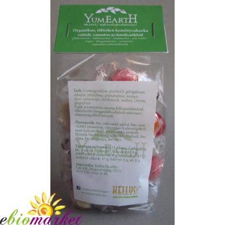 YumEarth by Kellys Organics Vegán vegyes gyümölcsös cukorka 100g