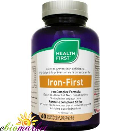 Iron First 34mg vas (60) kapszula Health First