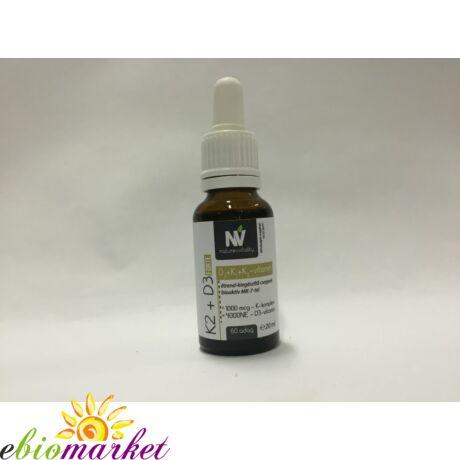 K2 + D3 Forte 20ml (60 adag) Nature&Vitality
