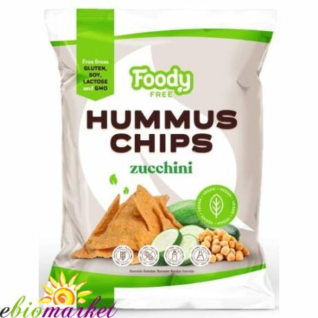 HUMMUS CHIPS CUKKINIVEL 50G FOODY FREE