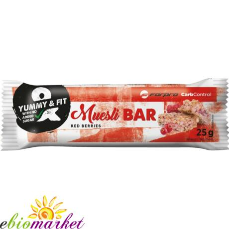 FORPRO MUESLI BAR RED BERRIES - 24DBX25G