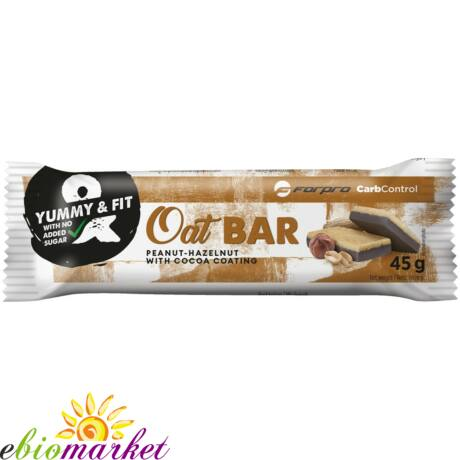FORPRO OAT BAR PEANUT-HAZELNUT WITH COCOA COATING - 30DBX45G