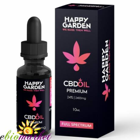 HAPPY GARDEN 24% CBD OLAJ 2400MG - 10 ML