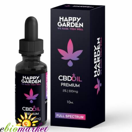 HAPPY GARDEN 5% CBD OLAJ 500MG - 10 ML