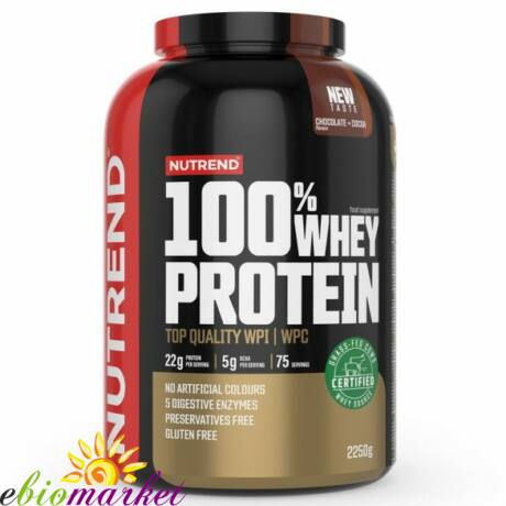 NUTREND 100% WHEY PROTEIN 2250G - CHOCOLATE + COCOA