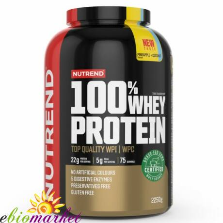 NUTREND 100% WHEY PROTEIN 2250G - PINEAPPLE + COCONUT