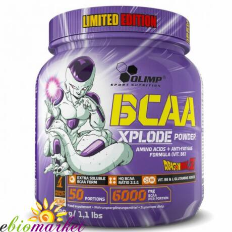 OLIMP DRAGON BALL BCAA XPLODE POWDER LIMITED EDITION 500G - FOREST FRUIT