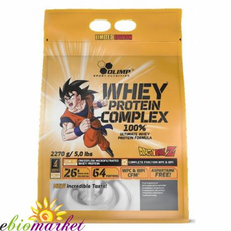 OLIMP DRAGON BALL WHEY PROTEIN COMPLEX LIMITED EDITION 2270 G ZIP BAG - WHITE CHOCOLATE WITH RASPBERRY
