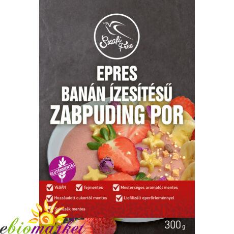 Szafi Free epres és banán ízű zabpuding por (gluténmentes, tejmentes, tojásmentes) 300 g