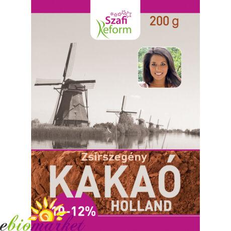 Szafi Fitt zsírszegény holland kakaópor 10-12% 200g