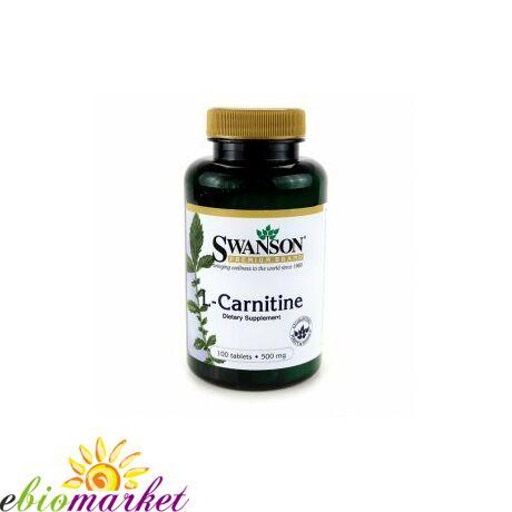 L-Carnitine 500mg-Swanson (100 db) tabletta